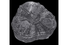 Fostoria Crystal (#327) Navarre #2496 Candy Box and Cover