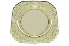 "Fostoria New Garland Topaz (Yellow) #2419 - 7"" Salad Plate"