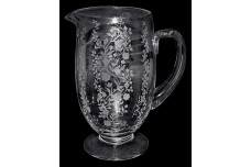 Fostoria Rambler Design Crystal (#6011) Footed Pitcher /Jug