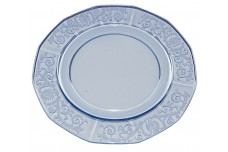 "Fostoria Versailles Blue #2375-10 1/4"" Large Dinner Plate"