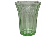 Hazel Atlas Cloverleaf  Green Flat Water Tumbler - HARD TO FIND