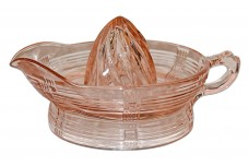 Hazel Atlas Pink Criss Cross Large #9840 Orange Reamer