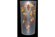 "Hall / Libbey Autumn Leaf Frosted Flat 5 1/2"" - 10 oz. Tumbler"