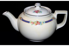 Hall China Blue Bouquet Boston 6 Cup Teapot