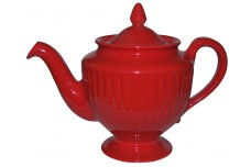 Hall China Chinese Red Los Angeles Teapot