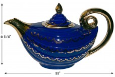 Hall China Aladdin Marine Swag Teapot