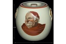 Hall China Red Monk Hard to Find Pretzel Jar / Biscuit Jar
