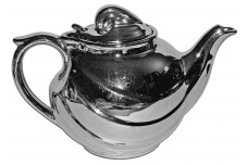 Hall China Parade Silvalyte / Silver Luster Teapot