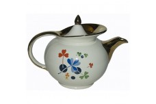 Hall China Golden Clover Windshield Teapot