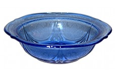 Hazel Atlas Royal Lace Cobalt Small Berry / Fruit Bowl