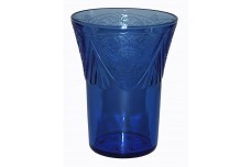 Hazel Atlas Royal Lace Cobalt 9 oz. Water Tumbler