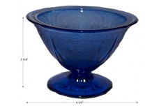 Hazel Atlas Royal Lace Cobalt Blue Sherbet / All Glass