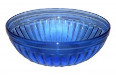 Hazel Atlas Aurora Cobalt Cereal Bowl