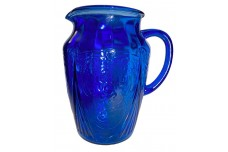 Hazel Atlas Royal Lace HTF Blue / Cobalt 64 oz Pitcher / Jug NIL