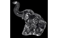 Heisey  Crystal Baby Elephant Figure 1944-1953 - Trunk Up