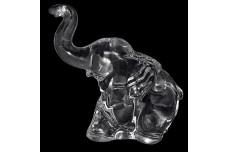 Heisey  Crystal Baby Elephant Figure 1944-1953 - Trunk Up