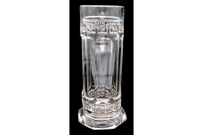 Heisey Greek Key Crystal Straw Holder / Jar - Open