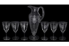 Heisey Pied Piper #439 - Tankard Jug and 6 Water Goblets