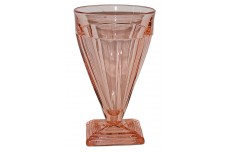 Heisey Twist #1252 Flamingo (pink) 12 oz Footed Ice Tea Tumbler / Soda