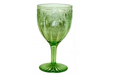 Hocking Glass Company Cameo Green Water Goblet