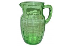 Hocking Block Optic Green  Water Pitcher - EXCELLENT CONDITION