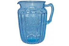 Hocking Mayfair Blue Large 80 oz Ice Tea Pitcher