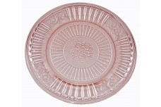 "Hocking Mayfair Pink 6 3/4"" Round Sherbet Plate"
