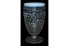 "Hocking Moonstone White Opalescent 5 3/8"" Footed Tumbler"