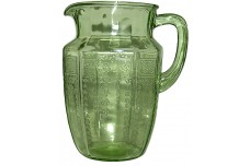 Hocking Princess Green Water Pitcher