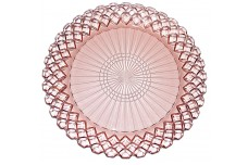 Hocking Waterford Pink Depression Dinner Plate