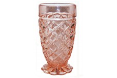 Hocking Waterford Pink Depression Footed Tumbler