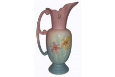 "Hull Pottery Iris Pink 13 1/2"" Large Ewer / Jug - BEAUTIFUL CONDITION"