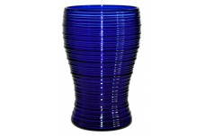 "Imperial  Reeded / Spun Cobalt Blue Footed 5"" Tumbler"