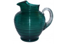 Imperial  Reeded / Spun Stiegel Green 80 oz. Ice Lip  Pitcher