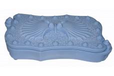 Imperial Atlantis Seashell #422 Antique Blue Cigarette / Trinket Box