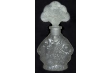 Crystal Satin Cherub Perfume Bottle / Cologne -- Made in Japan
