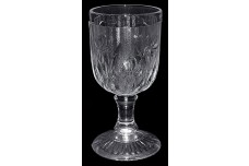 "Jeannette Crystal Iris and Herringbone 4 1/4"" Wine Goblet"