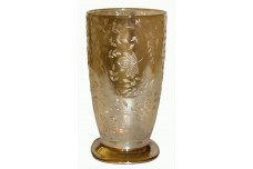Jeannette Depression Glass Crystal Floragold  Scarce Ice Tea Tumbler