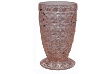 Jeannette Pink Holiday Buttons and Bows Footed Juice Tumbler
