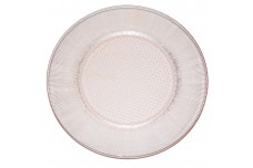 Jeannette Homespun Pink Dinner Plate