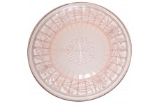 Jeannette Sunflower PInk Dinner Plate - GREAT PATTERN AND COLOR