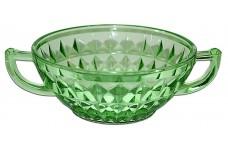 Jeannette Windsor Green Cream Soup Bowl