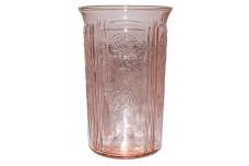"""MacBeth Evans Pink American Sweetheart 4 3/8"""" Water Tumbler"""