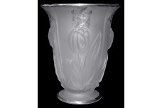 Mckee Tulip Vase Third Panel Sheriffs Jury New York, Sterling Overlay
