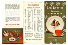 Metlox Red Rooster Provincial Dinnerware Original Pamphlet / Catalog