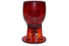 New Martinsville Moondrops Ruby RARELY FOUND Rocket Wine Goblet
