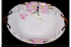 Noritake Azalea Gold Decorated Oval Bowl