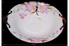 Noritake Azalea Gold Decorated Oval Bowl