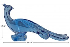 Paden City Blue Chinese Pheasant Figure with Head Turned