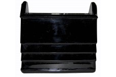Paden City Black / Ebony Glass #210 Napkin Holder
